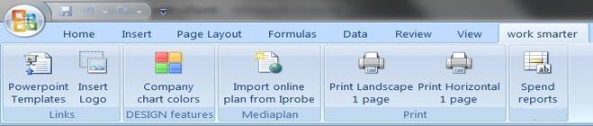 En menustruktur til at operere implementerede makroer kunne se således ud